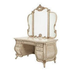 Michael Amini   AICO Furniture, Platine De Royale 3 Piece Vanity Desk Set,