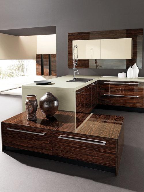 Ebony Wood Kitchen Cabinets Houzz