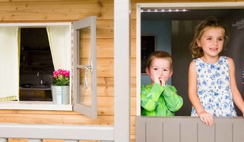 Door and window view -  Luxury Playhouse 10ft x 8ft with natural wood finish