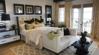 Shutters and Natural shades in a Contemporary Bedroom