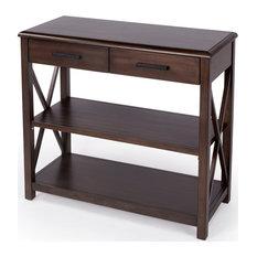 Butler Adrik Dark Brown Console Table With Storage 5471403
