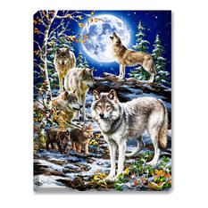 The Spirit of the Pack Wolf Wall Art by Dona Gelsinger