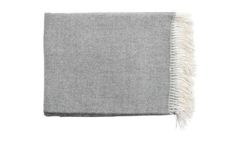 """Area Inc. Colin Charcoal Throw Blanket, 51""""x70"""""""