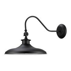 Aedan 1-Light Black Swivel Wall Sconce Light