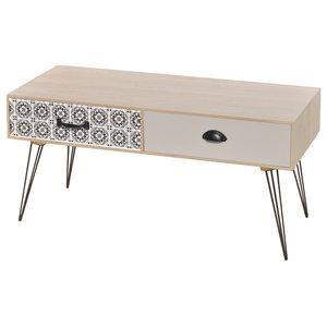 vidaXL TV Side Table, Brown, 100x40x35 cm