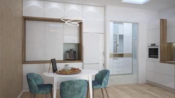 Кухня-гостиная с входной зоной