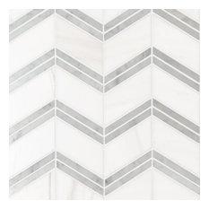 Bianco Dolomite Cheveron Pol, Polished, Marble,