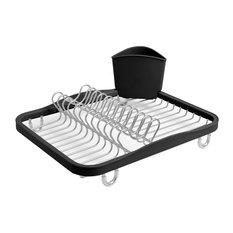 Sinkin Dish Rack, Smoke/Nickel
