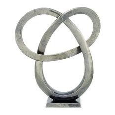 """Winegarten Aluminum Sculpture, Gray, 20"""""""