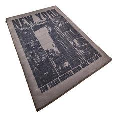 Happy New York Rug, Black, 160x230 cm
