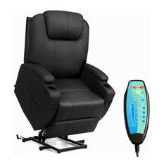 Costway Electric Lift Power Chair Recliner Heated Vibration Massage with Remote