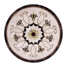 "Marble Floor Medallion round Medallion Marble Tile Inlay, 36"""