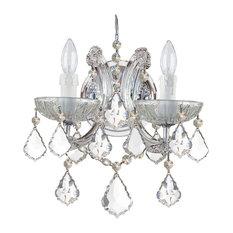 Maria Theresa 2 Light Clear Italian Crystal Chrome Sconce