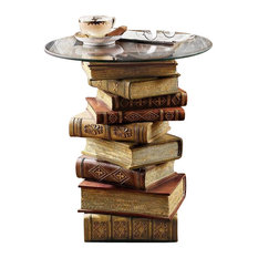 Design Toscano   Power Of Books Side Table   Side Tables And End Tables