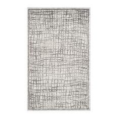 Studio Seven Woven Area Rug, Silver/Ivory, 10'x14'
