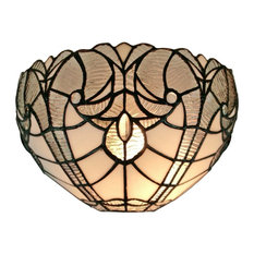 Bestselling victorian wall lights for 2018 houzz amora lighting llc tiffany style white floral wall sconce lamp 12 wall aloadofball Images
