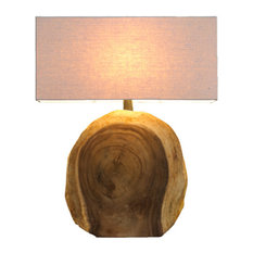 Rustic table lamps for your home houzz natural design house natural arbor block lamp table lamps aloadofball