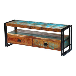vidaXL Solid Reclaimed Wood TV Cabinet