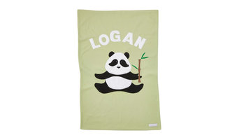 Personalized Panda Baby Blanket