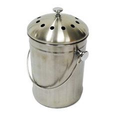 Kitchen Accents Stainless Steel Kitchen Composter 3 Quart