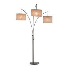adesso trinity arc lamp antique bronze floor lamps. Black Bedroom Furniture Sets. Home Design Ideas
