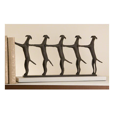 Global Views 8.80332 Golden Conga Line Bookend