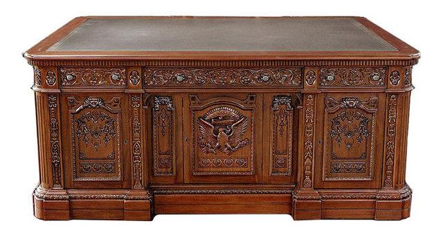 oval office resolute desk. 6\u0027 Mahogany Presidential Oval Office Resolute Desk With Leather I