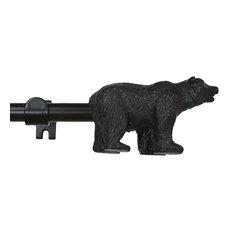 "3/4"" Adjustable Bear Curtain Rod, Bronze, 28"" to 48"""