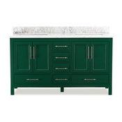 "Kendall Emerald Green Bathroom Vanity, 60"""