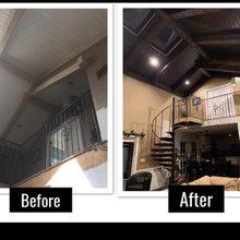 Exposed Wood ceiling beams