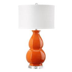 "Safavieh Juniper 30"" High Orange Table Lamp"