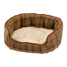 Country Check Oval Dog Bed, Medium
