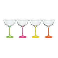 Neon Cocktail Glasses, Set of 4
