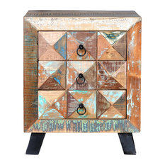 Diamante Reclaimed Wood Bedside Table