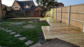 Garden Decking and hot tub area