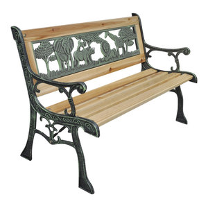 vidaXL Home Garden Bench for Children Animal Pattern, 80x24 cm