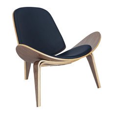 Poly and Bark Curved Plywood Lounge Chair