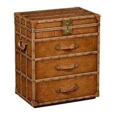 Jonathan Charles Fine Furniture - Jonathan Charles Steamer Trunk Jewellery Box 494474 - Decorative Trunks