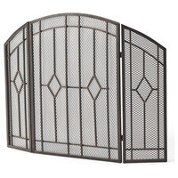 Gilmer 3-Panel Firescreen in Black and Copper