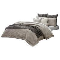 Emma Mason Signature Ara Mina 10-Piece King Comforter Set, Taupe AIC00641