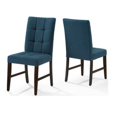 Modway Promulgate Biscuit Tufted Upholstered Fabric dining chair Set of 2