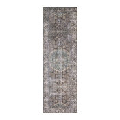 """Taupe Stone Teal Navy Printed Polyester Layla Area Rug by Loloi II, 2'-0""""x5'-0"""""""