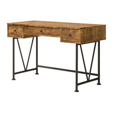 Merveilleux Coaster Furniture   Analiese Industrial Style Writing Desk With 3 Drawers,  Antique Nutmeg   Desks