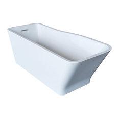 ANZZI Salva 5.7 ft. Acrylic Reversible Drain Freestanding Bathtub