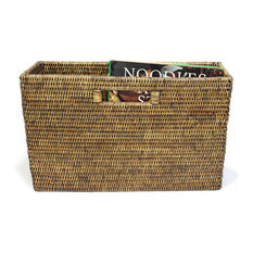 Rattan Slim Magazine Basket