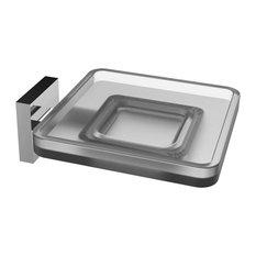 Eviva Plater Glass Soap Holder, Chrome