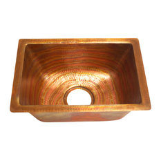 Rectangular Bar Copper Sink Undermount Or Drop In