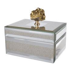 """Sullivan Striped Decorative Box 6""""x5""""x5.5"""""""
