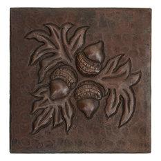 """Acorn Design Hammered Copper Tile, 8""""x 8"""""""