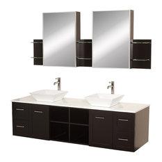 wyndham collection avara wallmounted double bathroom vanity 72 inch white stone